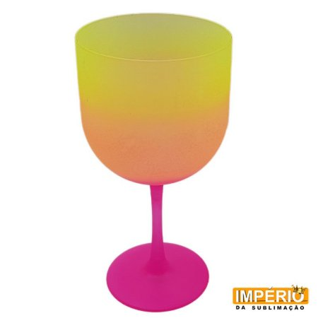 Taça Gin Summer (Rosa laranja e Amarelo)