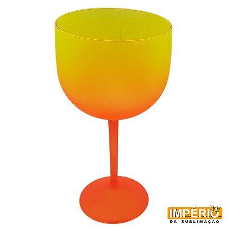 Taça Gin Degradê Neon (Laranja Amarelo)