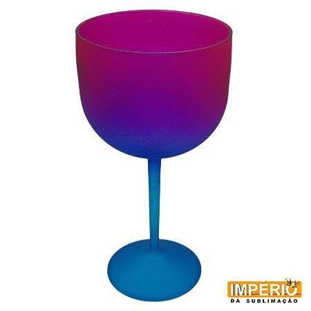 Taça Gin Degradê Neon (Azul Pink)