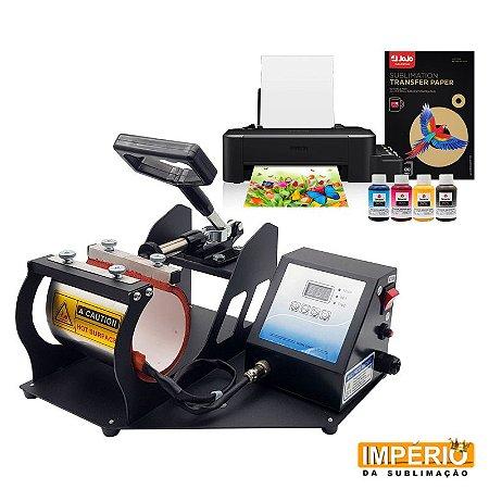 Kit Básico- Prensa de Caneca Térmica Cilíndrica + Impressora Epson L120