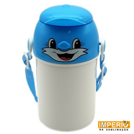 Garrafa Polímero Infantil Azul 400 ml