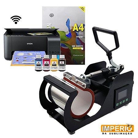Kit prensa de caneca deko pinel digital lateral + Impressora Epson 3150