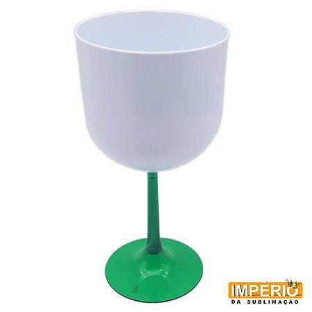 Taça Gin Branca Base Verde Escuro  Neon P/ Sublimação