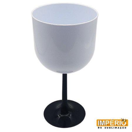 Taça Gin Branca Base Preta P/ Sublimação