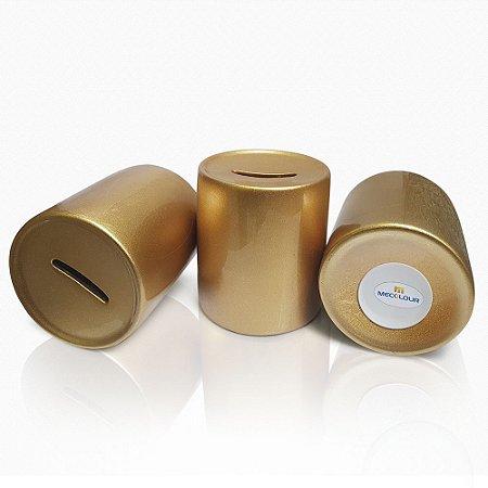 Cofre de Porcelana Dourado (P/ Sublimação)