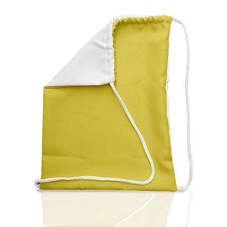 Mochila Adulto 30x40 Amarela - Sacochila (P/ Sublimação)