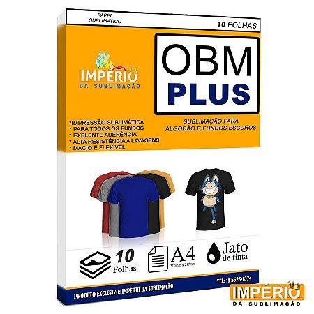 Papel OBM modelo plus para tecidos escuros 10 folhas