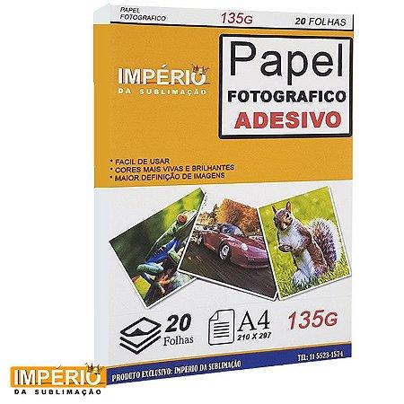 PAPEL FOTOGRAFICO ADESIVO 135G 20 FOLHAS