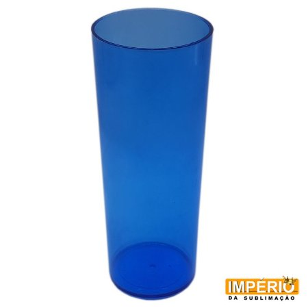 Copo Long Drink Neon Azul