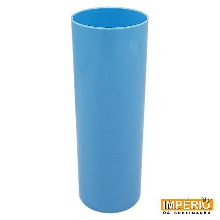 Copo Long Drink Leitoso Azul Bebê