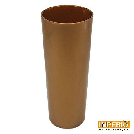Copo Long Drink Leitoso Dourado