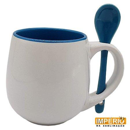 Caneca Belly - Colher e Interior Azul
