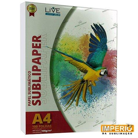 Papel A4 Live 100g. P/ Sublimaçao PCT C/100f.