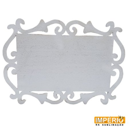 Placa arabes 3mm MDF 26cm retangular
