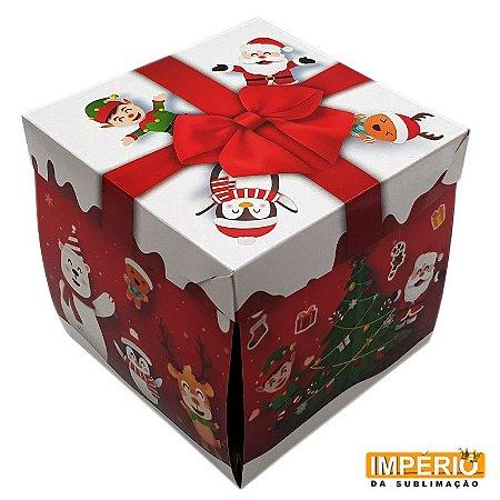 Caixinha Explosão QR CODE Feliz Natal - 10 unidades