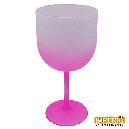 Taça de gin fosca rosa