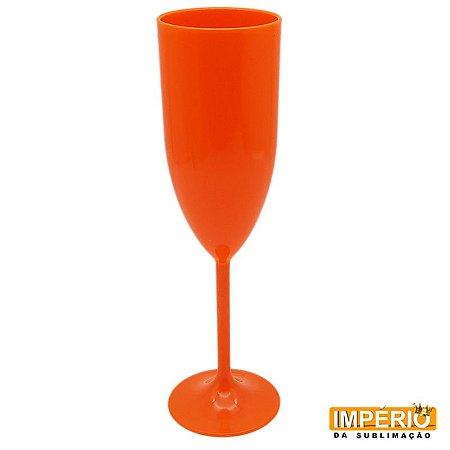 Taça acrílica laranja fluorescente