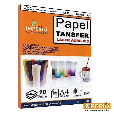 Papel Transfer Laser 120g. - 10 folhas