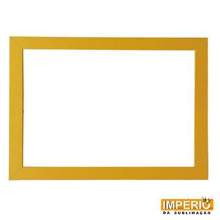 Moldura de madeira A4 Amarela