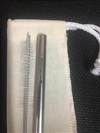 105 canudo 6mm reto  + 105 escova + 105 bag personalizada