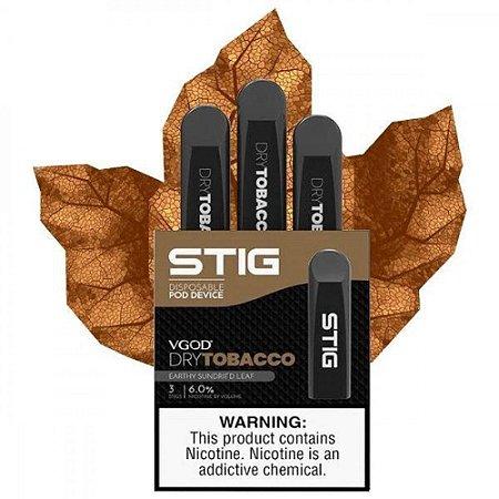 Pod Descartável Stig Dry Tobacco - VGod