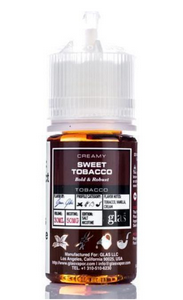 E-Liquid GLAS Salt Nicotine - Creamy Sweet Tobacco