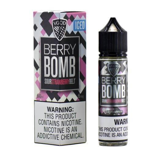Líquido Berry Bomb ICED Sour Strawberry Belt Premium American - Vgod