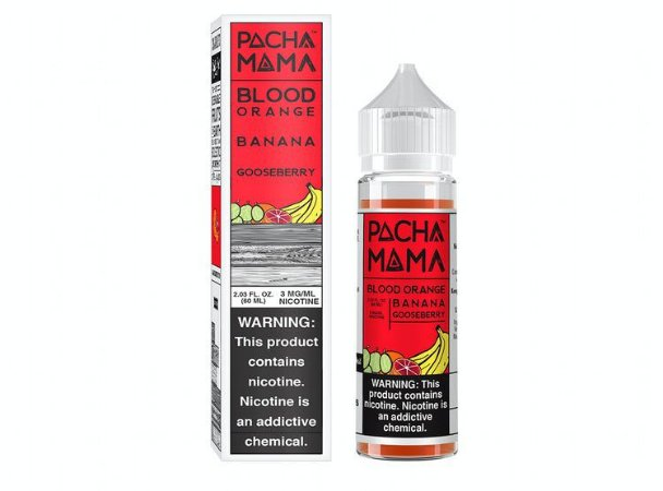 LÍQUIDO CHARLIE'S CHALK DUST - PACHA MAMA - BLOOD ORANGE BANANA GOOSEBERR