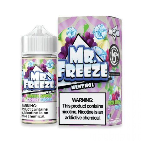 LÍQUIDO GREEN APPLE GRAPE FROST NIC SALT - MR. FREEZE