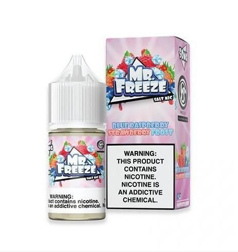 LÍQUIDO BLUE RASPBERRY STRAWBERRY FROST NIC SALT - MR. FREEZE