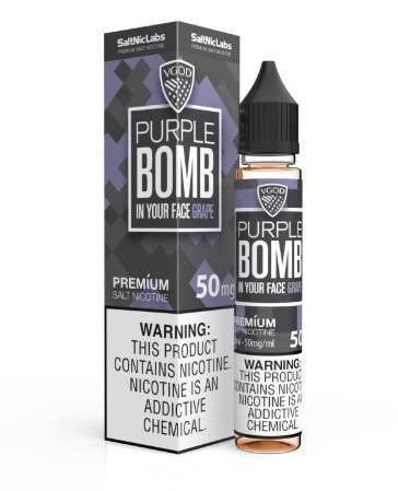 LÍQUIDO BOMB IN YOUR FACE GRAPE NIC SALT - VGOD