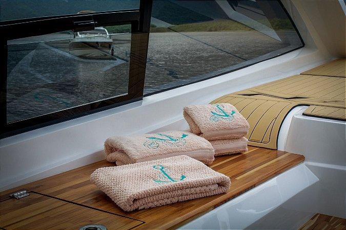 Jogo toalha bordado Âncora Buddemeyer