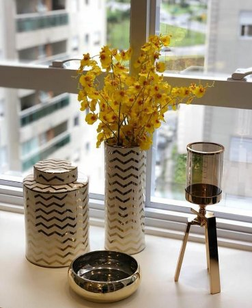 Conjunto Potiches em Cerâmica