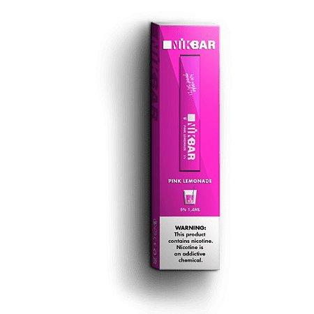 Pod Descartável - Pink Lemonade - 5% - 300 Puff - NikBar