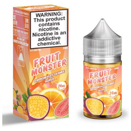 Líquido Nicsalt - Passionfruit Orange Guava Fruit Monster - 30ml