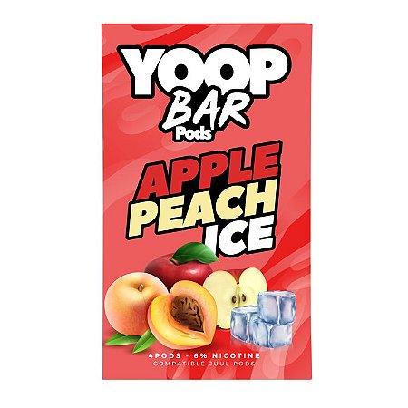 Pod Refil Yoop - 4 refil - Apple Peach Ice - 5%