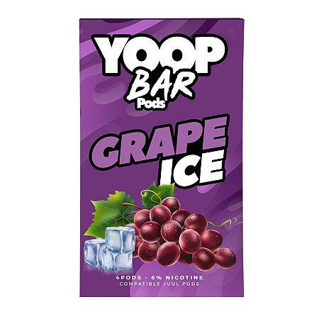 Pod Refil Yoop - 4 refil - Grape Ice - 5%