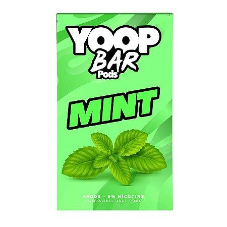 Pod Refil Yoop - 4 refil - Mint - 5%