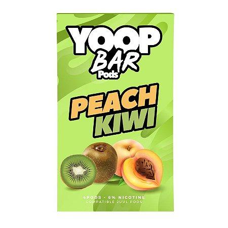 Pod Refil Yoop - 4 refil - Peach Kiwi - 5%
