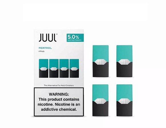 Pod Refil Juul - 4 refil - Mentol - 5%