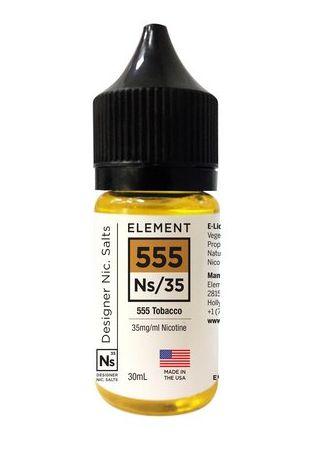 Líquido NicSalt 555 Tobaco - Element - 30ml