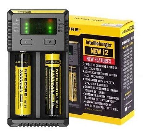 Carregador - i2 New - Para Pilhas E Baterias 18650  - Nitecore