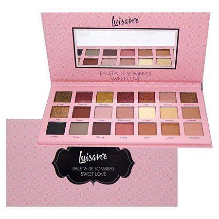 Paleta de sombras 21 cores sweet love - Luisance