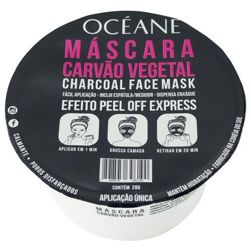 Máscara facial carvão vegetal face mask - océane