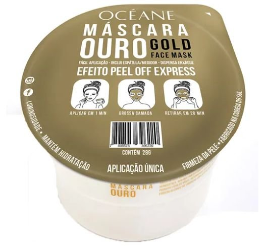 Máscara facial ouro gold face mask - océane
