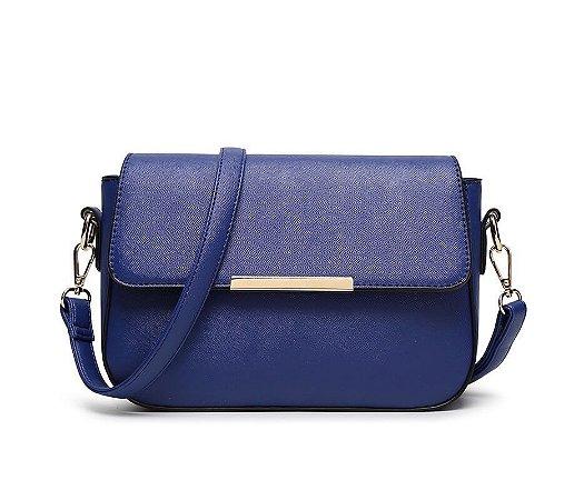 Bolsa Transversal Pequena Bia Azul Marinho