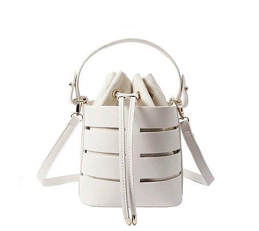 Bolsa Saco Vazado Branca Fernanda