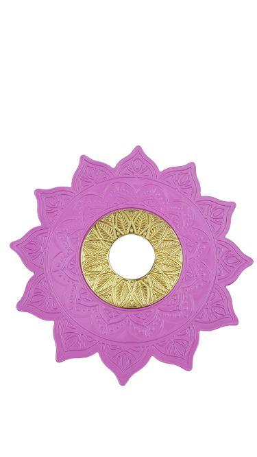 Prato Flowers - Rosa Claro e Dourado