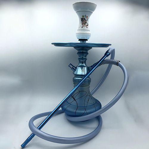 Narguilé Completo Anubis Azul/Branco