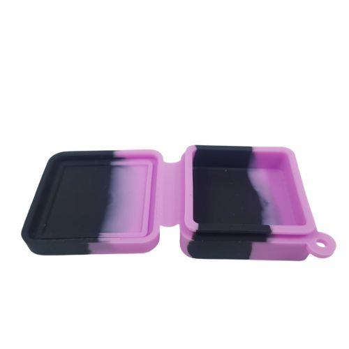 Slick Silicone Quadrado Médio -Preta e Rosa